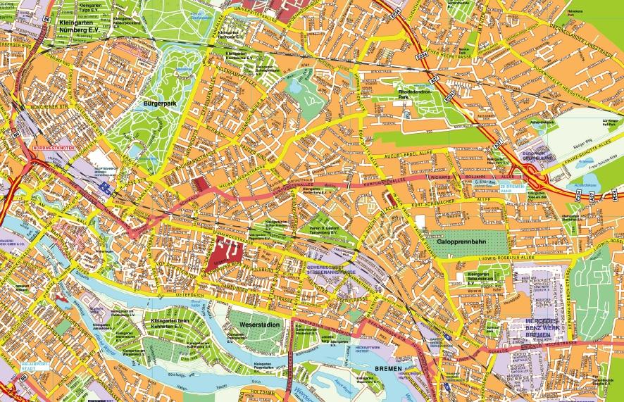 Brema stadtplan