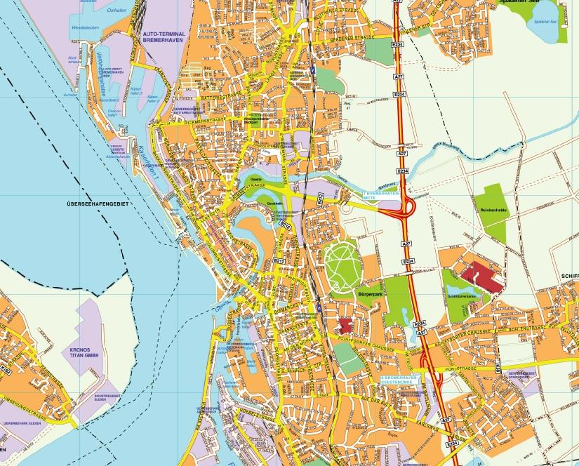 Bremerhaven stadtplan