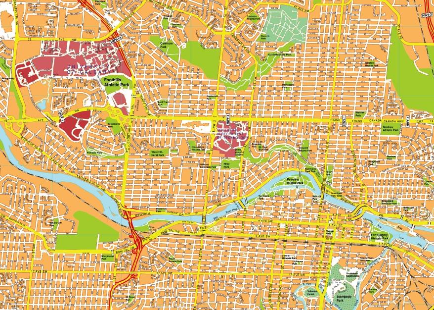 Calgary maps