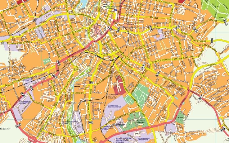 Chemnitz stadtplan
