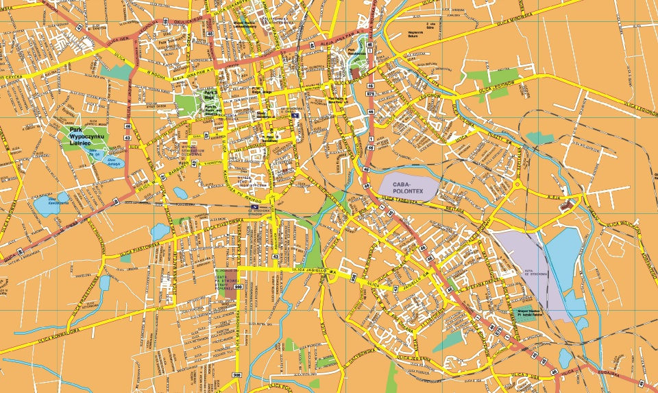 Csestochowa map