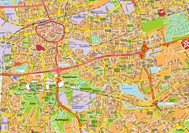 Dortmund stadtplan