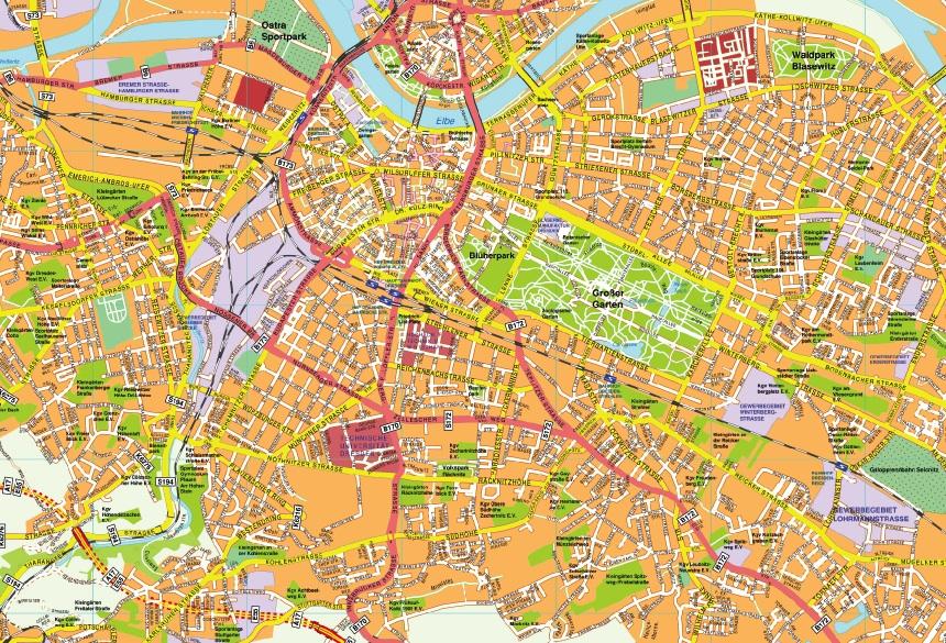Dresden stadtplan
