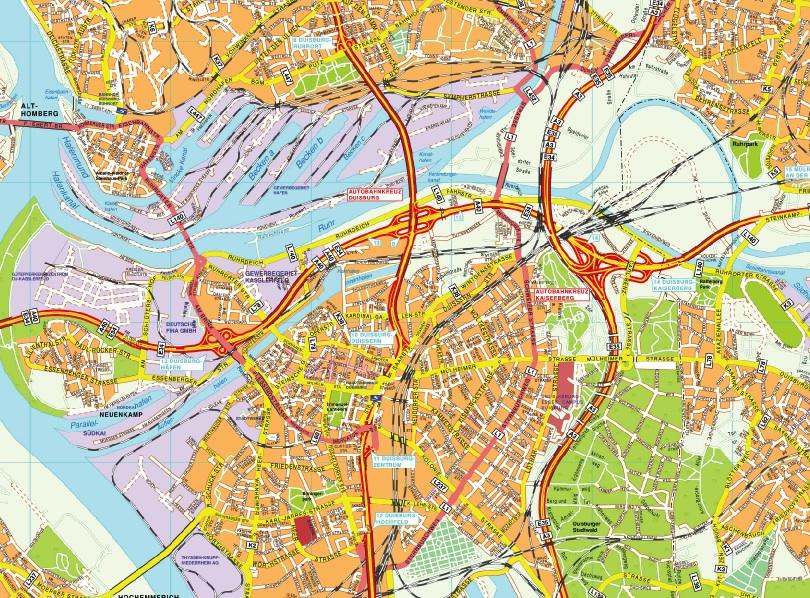 Duisburg stadtplan
