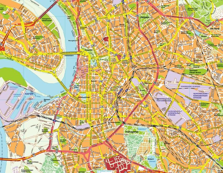 Dusseldorf stadtplan