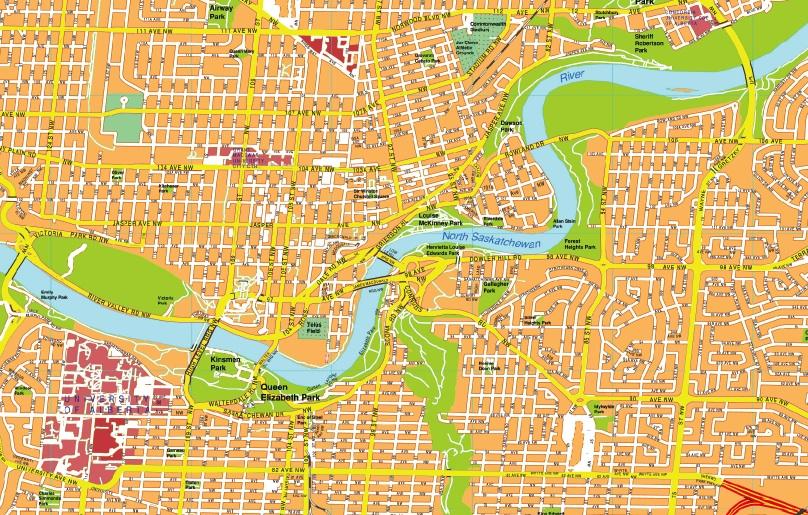 Edmonton maps