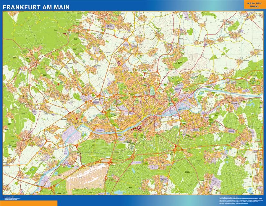 Frankfurt am main karte