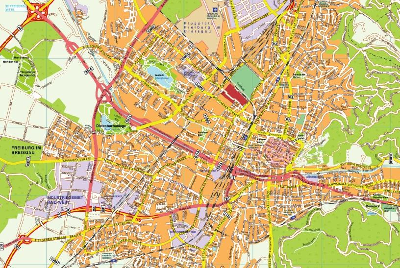 Freiburg im breisgau stadtplan