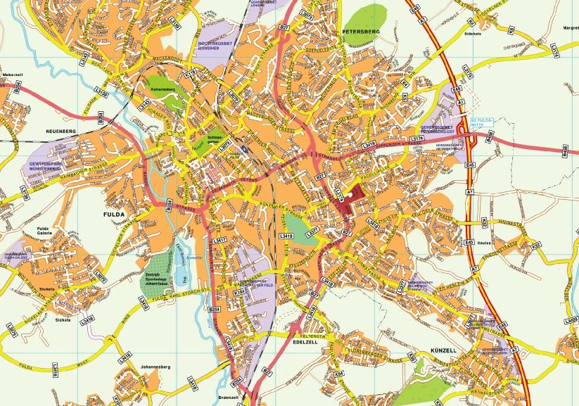 Fulda stadtplan