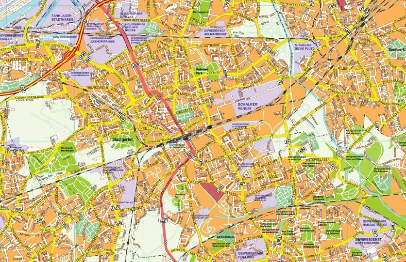 Gelsenkirchen stadtplan