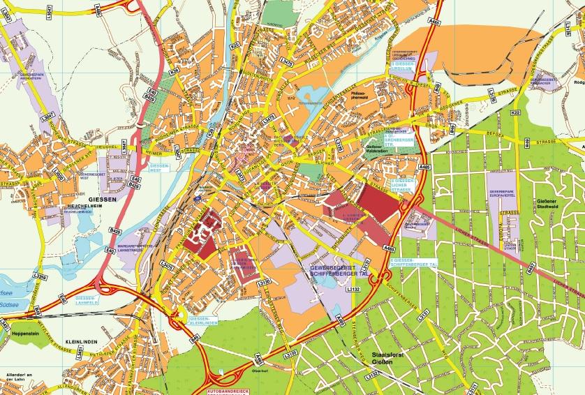 Giessen stadtplan