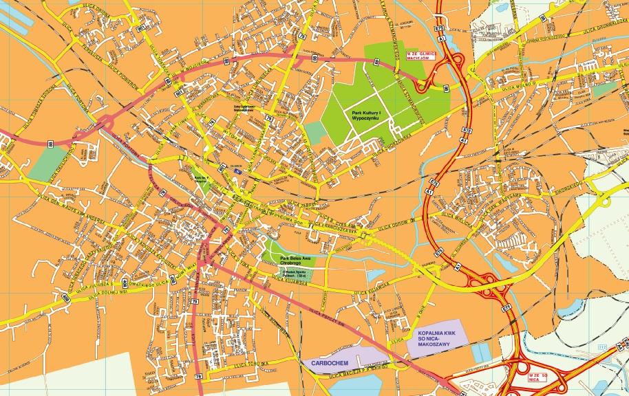 Gliwice map
