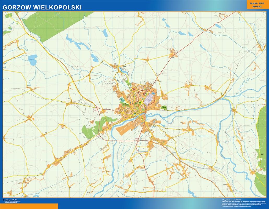 Gorzow Wielkopolski mapa