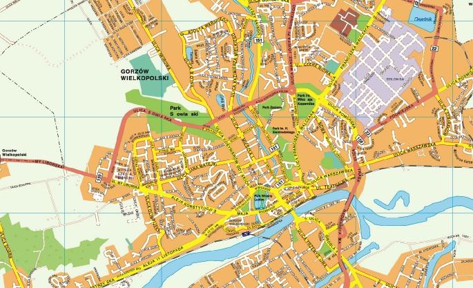 Gorzow wielkopolski map
