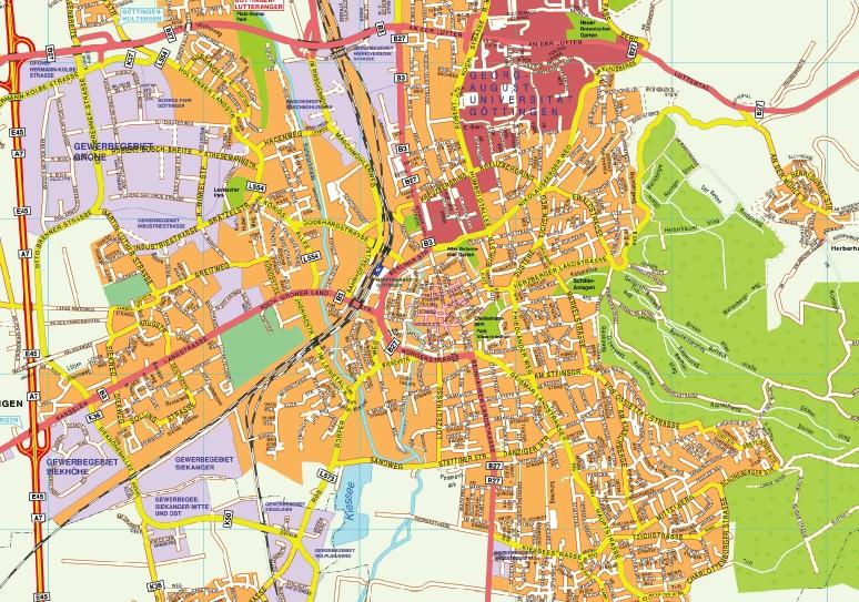 Gottingen stadtplan