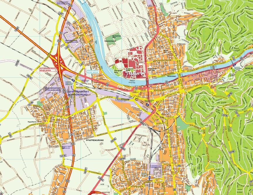 Heidelberg stadtplan