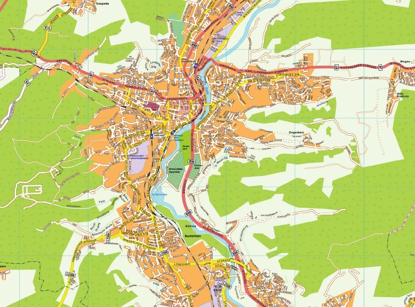 Jena stadtplan