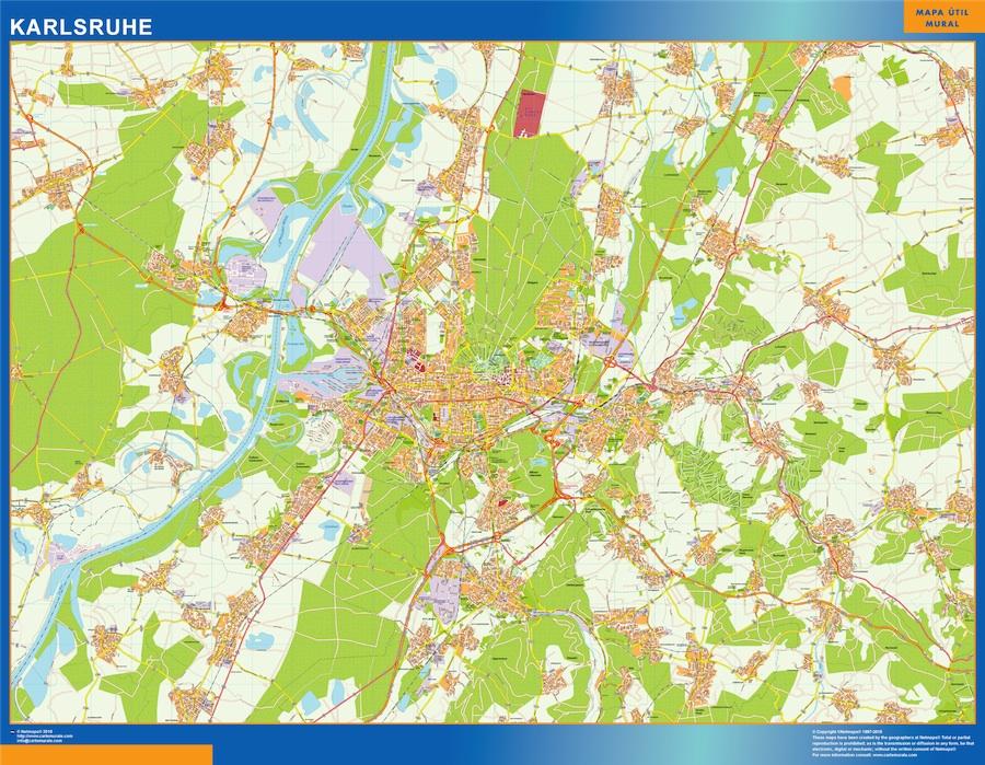 Karlsruhe karte