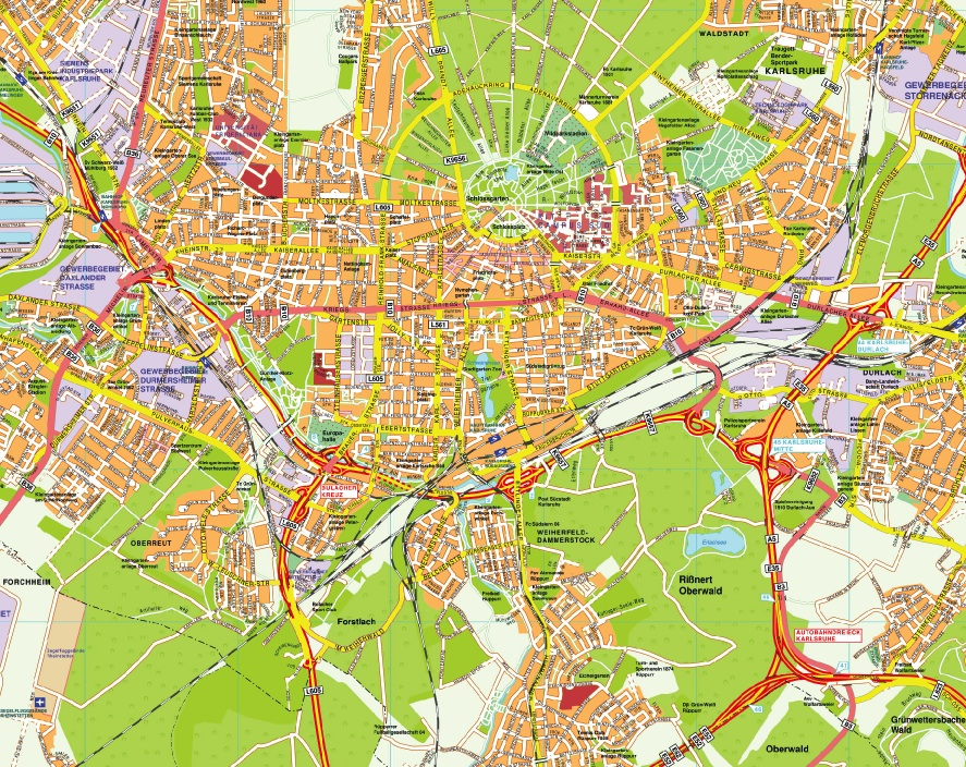 Karlsruhe stadtplan