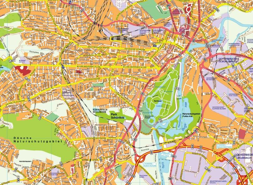 Kassel stadtplan