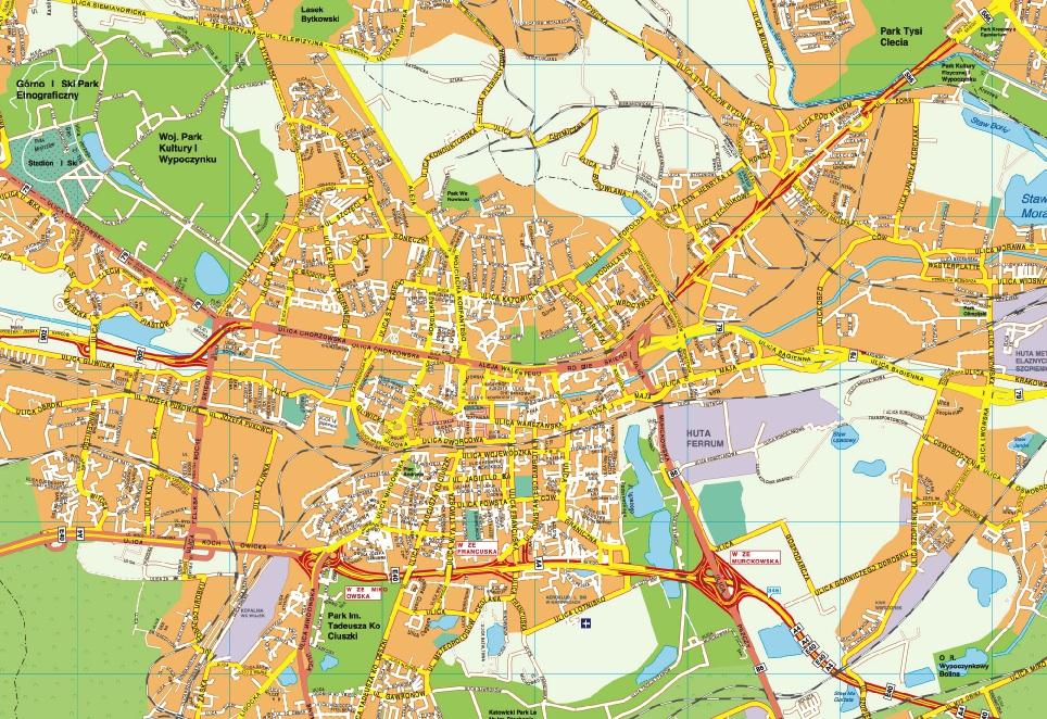 Katowice map