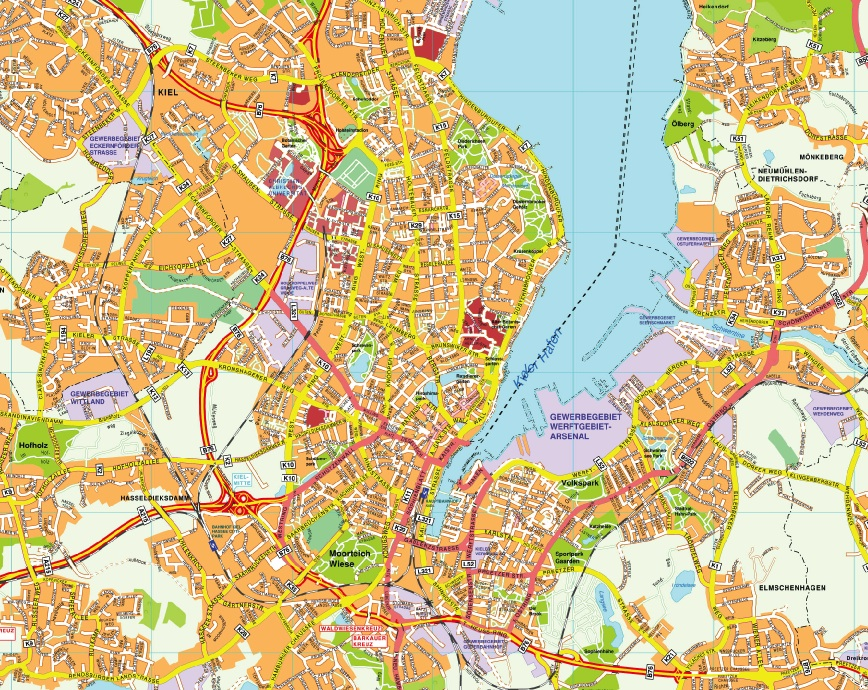 Kiel stadtplan