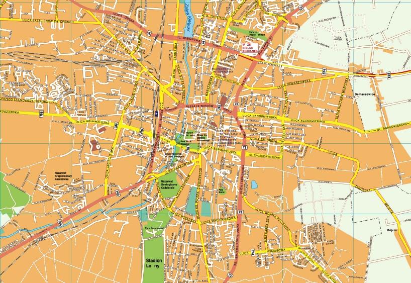 Kielce map