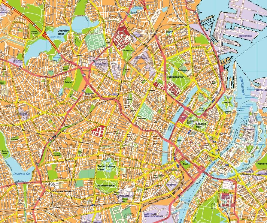 Kobenhavn map