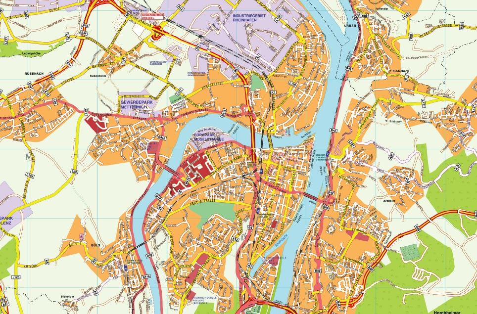 Our Koblenz Karte Wall Maps Mapmakers offers poster laminated or