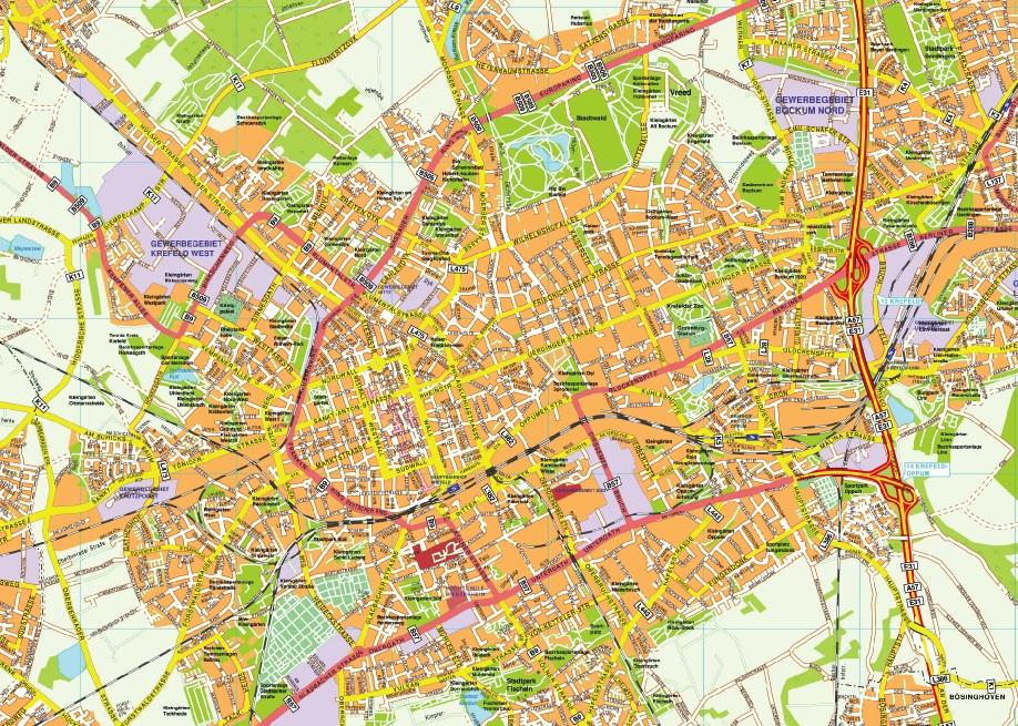 Krefeld stadtplan
