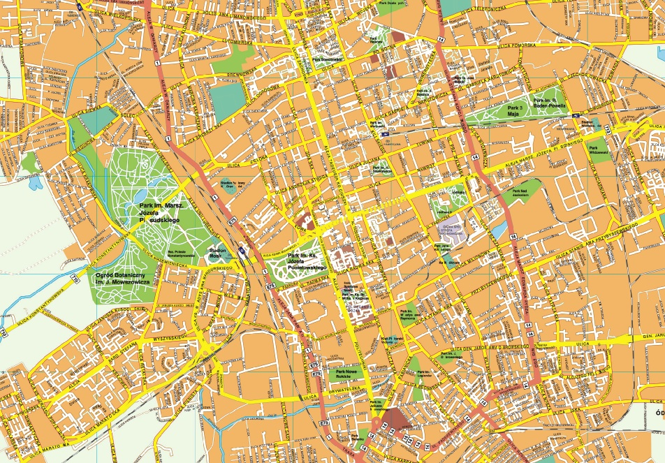 Map of Łódź