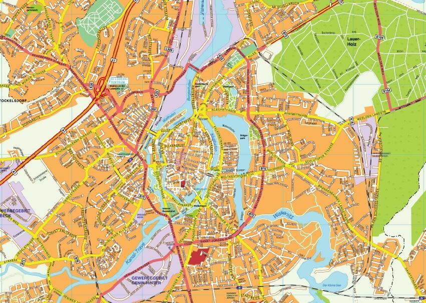 Lubeck stadtplan