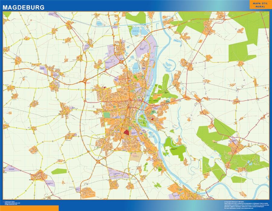 Magdeburg karte