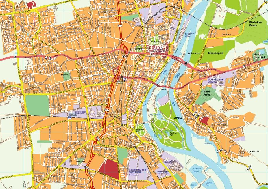 Magdeburg stadtplan