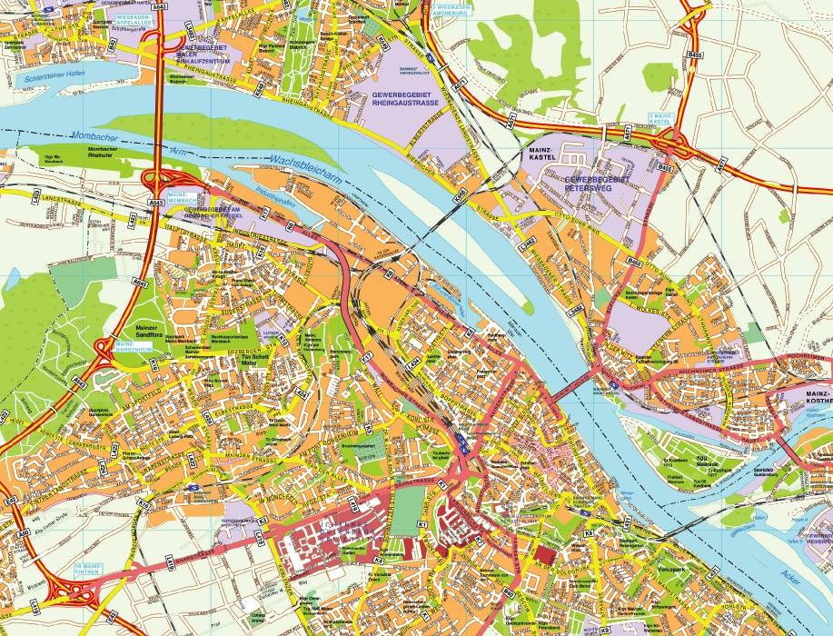 Mainz stadtplan