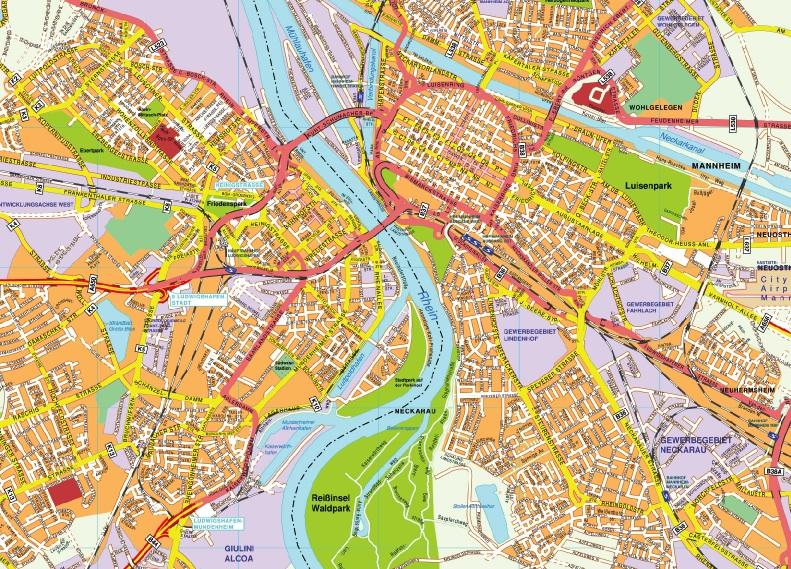 Mannheim stadtplan