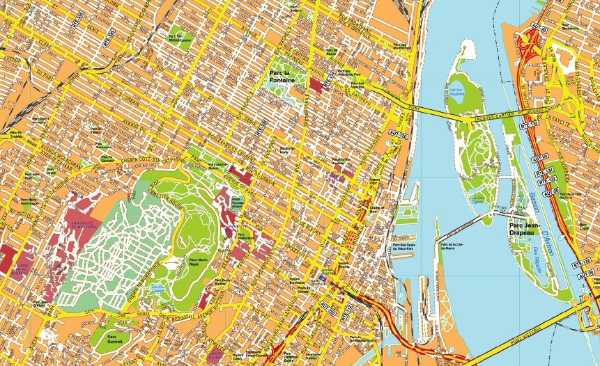Montreal maps