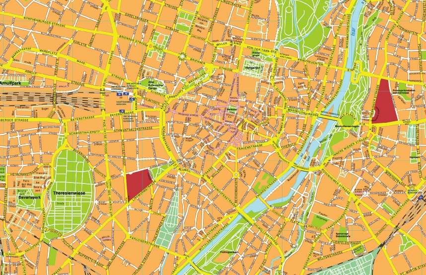 Munchen stadtplan