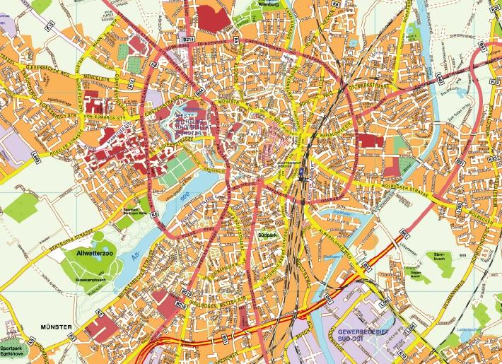 Munster stadtplan