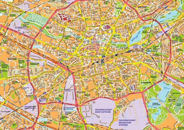 Nurnberg stadtplan