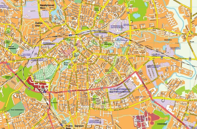 Odense map