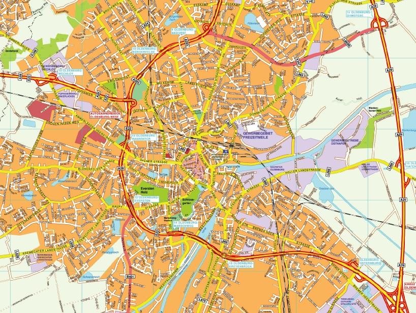 Oldenburg stadtplan