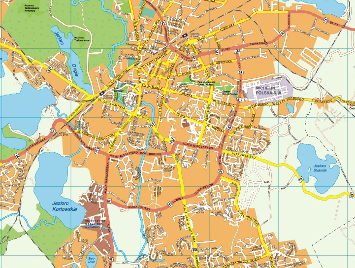 Olsztyn map