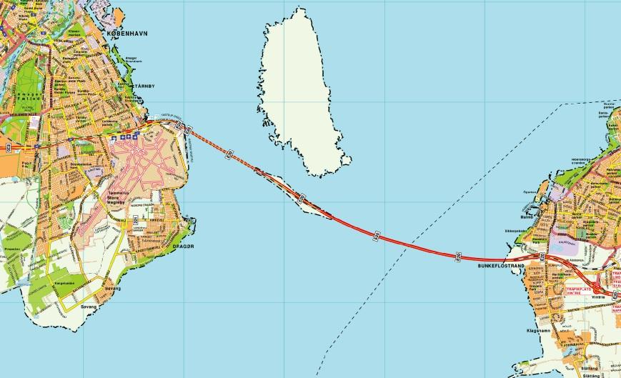 Oresundsbron map