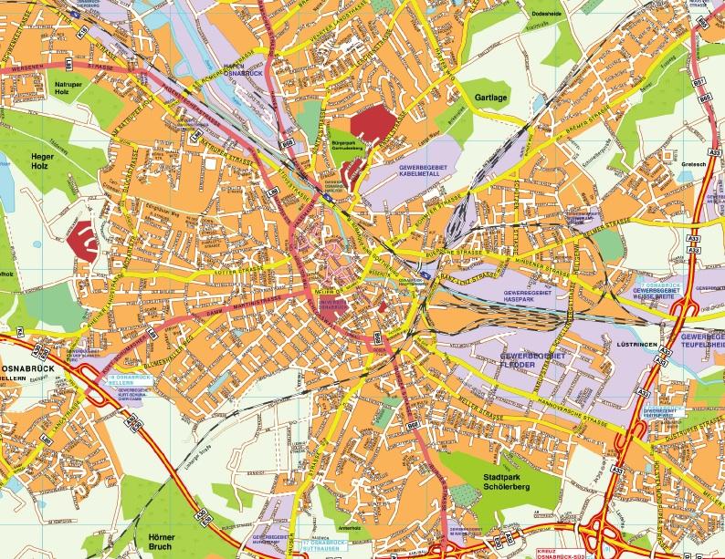 Osnabruck stadtplan