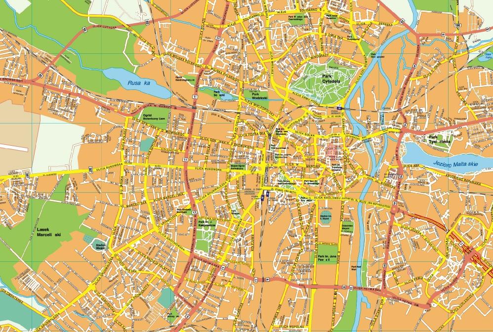 Poznan map