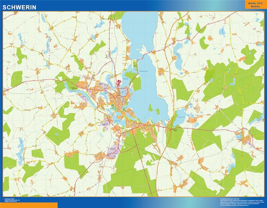 Find And Enjoy Our Schwerin Karte Thewallmaps Com