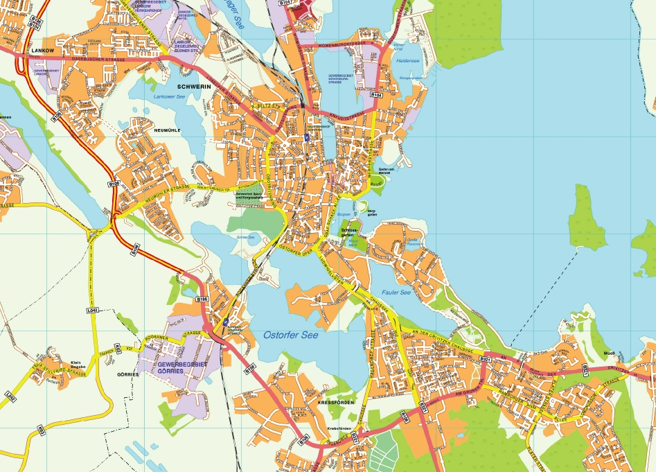 Schwerin stadtplan