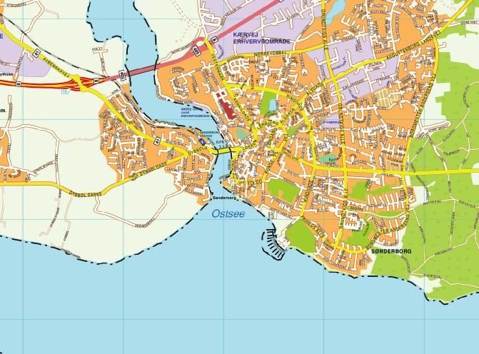 Sonderborg map