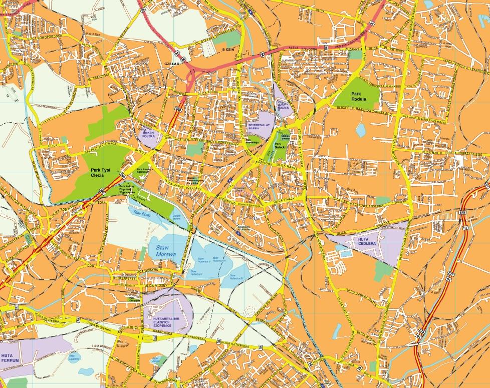 Sosnowiec map